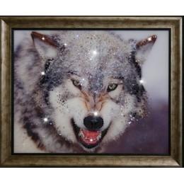 """Картина Swarovski """"Волк"""""""