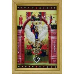 "Картина с кристаллами Swarovski ""Ключ Разумения"", 12,5 х 17,5 см"