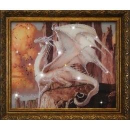 """Картина Swarovski """"Белый Дракон"""""""