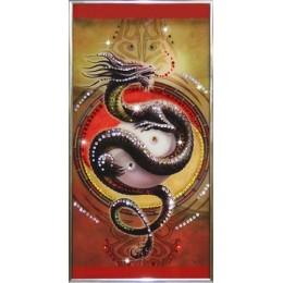 """Картина Swarovski """"Китайский Дракон"""""""