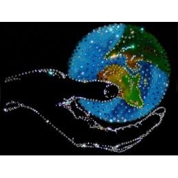 """Картина Swarovski """"Мир в руке"""""""