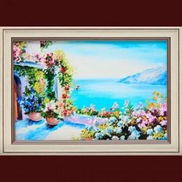 "Картина с кристаллами Swarovski ""Греческий дворик"""