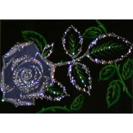 """Картина Swarovski """"Цветок розы"""""""