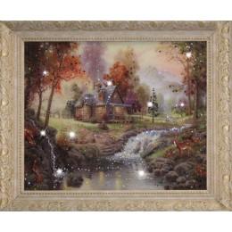 """Картина Swarovski """"Домик в лесу"""""""