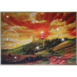 "Картина Swarovski ""На краю Земли"""