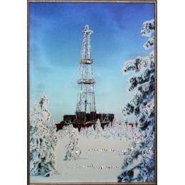 "Картина Swarovski ""Нефтяная вышка"", 40х60см"