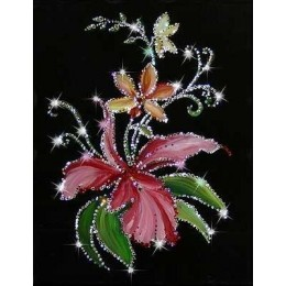 "Картина Swarovski ""Орхидеи"""