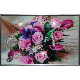"Картина Swarovski ""Розовые розы"""