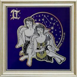 """Картина с кристаллами Swarovski """"Звездные близнецы"""", 36 х 36 см"""