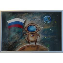 "Картина с кристаллами Swarovski ""Космонавт"" 20х30 см"