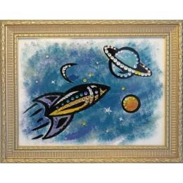 "Картина с кристаллами Swarovski ""Космос"" 23,2х18,2 см"