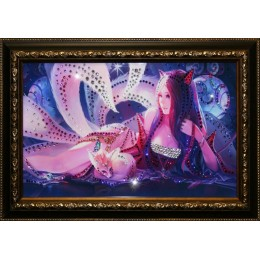 "Картина с кристаллами Swarovski ""Лисица"", 47,5х32,5см"