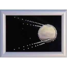 "Картина с кристаллами Swarovski ""Спутник"" 17х12 см"