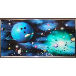 "Картина Swarovski ""Планета Боулинга"""