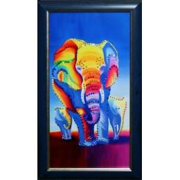 "Картина Swarovski ""Слоны"", 28х48см"
