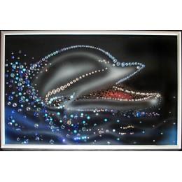 """Картина Сваровски """"Дельфин"""", 20 х 30 см"""
