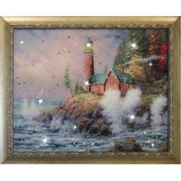 "Картина Swarovski ""Маяк на берегу"""