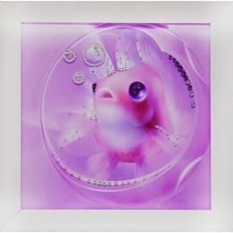 """Картина Swarovski """"Рыба моя"""", 24х24см"""