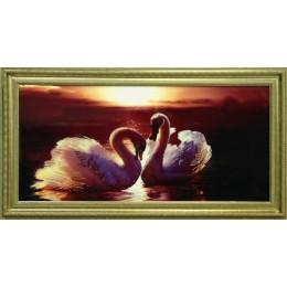 "Картина с кристаллами Swarovski ""Багряный закат"", 107 х 57 см"