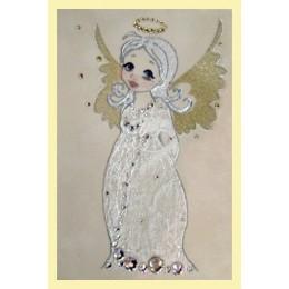"Картина Сваровски ""Ангелочек на плече"", 10 х 15 см"