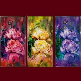 """Картина с кристаллами Swarovski """"Вера, надежда, любовь"""""""