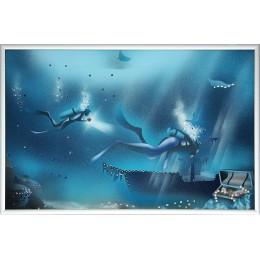"Картина Сваровски ""Голубая лагуна 2"", 30 х 20 см"