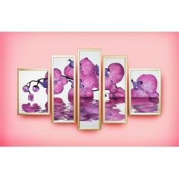 """Картина Сваровски """"Сиреневая орхидея"""", 170 х 110 см"""