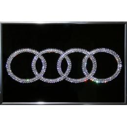 "Картина с кристаллами Swarovski ""Audi"", 30х20см"
