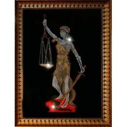 "Картина с кристаллами Swarovski ""Богиня правосудия-Фемида"""