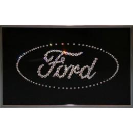 "Картина с кристаллами Swarovski ""Ford"", 30х20см"