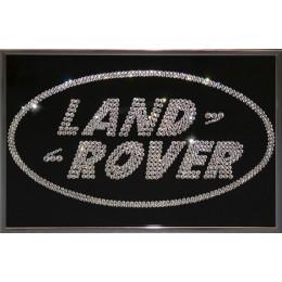 "Картина с кристаллами Swarovski ""Land Rover"", 30х20см"