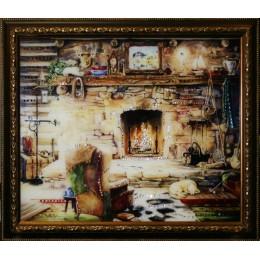 "Картина с кристаллами Swarovski ""После охоты"", 57,5х47,5см"