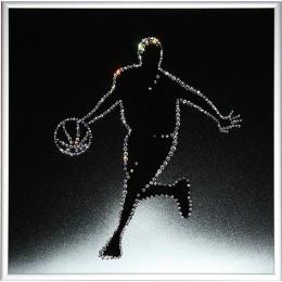 "Картина Сваровски ""Баскетболист"", 25 х 25 см"