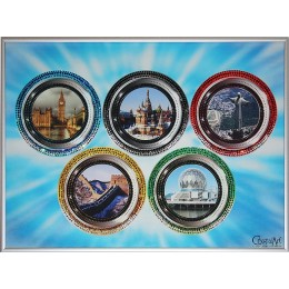 "Картина Сваровски ""По странам Олимпиады"", 30 х 40 см"