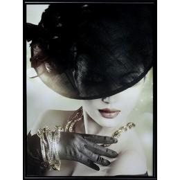 """Картина Сваровски """"Женское украшение - Игра золота"""", 30 х 40 см"""