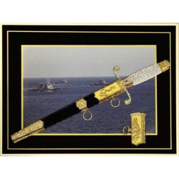 "Картина Swarovski ""Кортик Морской"", 1126 кристаллов, 30х40 см"