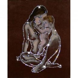 "Картина Swarovski ""Мать и дитя"""