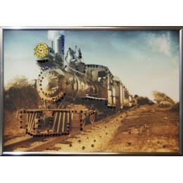 """Картина Swarovski """"Паровоз на горизонте"""", 30х20см"""