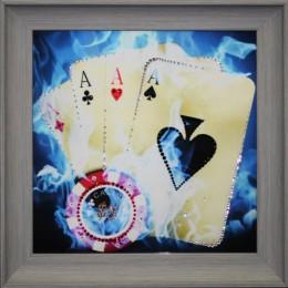 "Картина Swarovski ""Покер"""