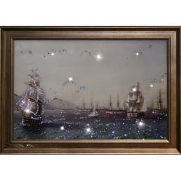 "Картина Swarovski ""Военный флот"""