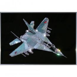 """Картина Swarovski """"Военный истребитель"""""""