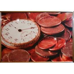 "Картина Swarovski ""Время деньги 2"""