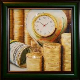 "Картина Swarovski ""Время деньги 3"""