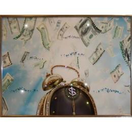 "Картина Swarovski ""Время деньги 4"""