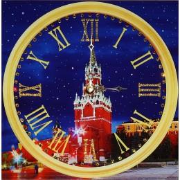 """Часы Сваровски """"Кремлёвские Куранты"""", 40 х 40 см"""