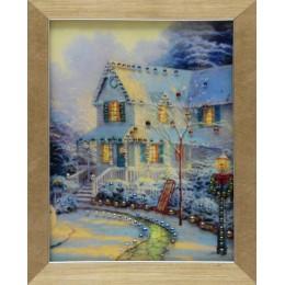 "Картина с кристаллами Swarovski ""Канун Рождества"", 18 х 23 см"