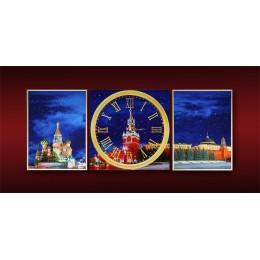 """Картина Сваровски """"Красная Площадь"""", 100х40 см"""