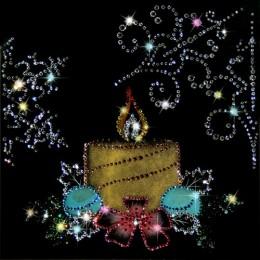 """Картина Swarovski """"Новогодняя свеча"""""""