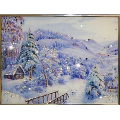 """Картина Swarovski """"Зима"""""""
