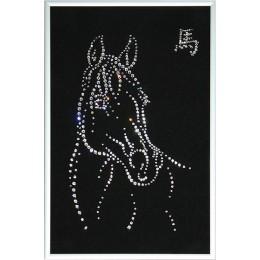 """Картина Сваровски """"Лощадь"""", 465 кристаллов, 20 х 30 см"""